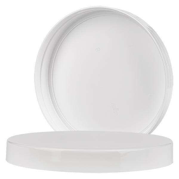 Couvercle à vis blanc filetage 100 mm, pour pots à vis en PET 1000 ml