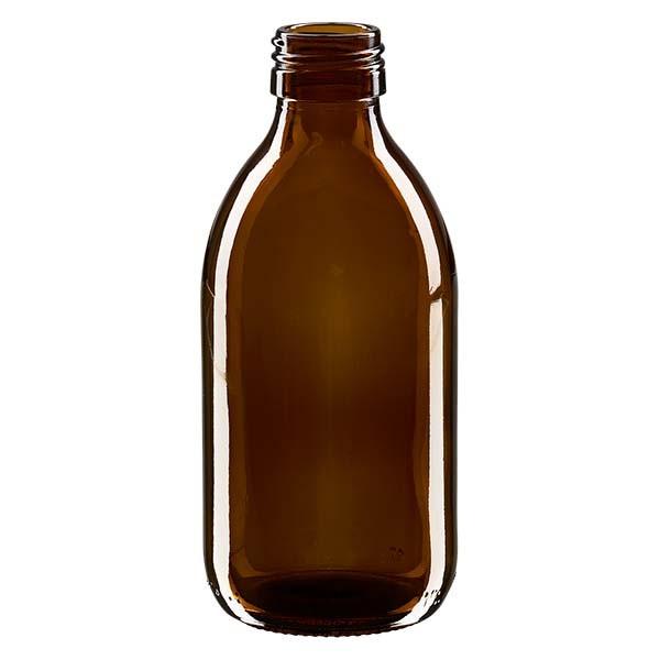 Flacon médical 250 ml couleur ambrée, PP 28