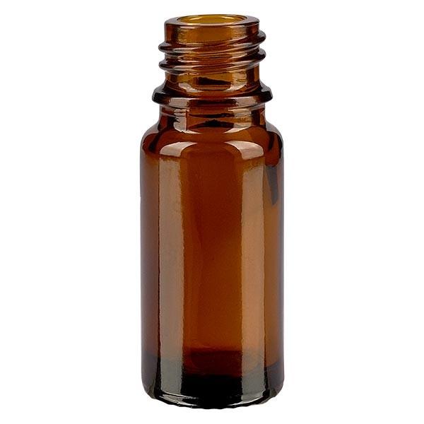 Flacon compte-gouttes 10 ml DIN18 - verre brun