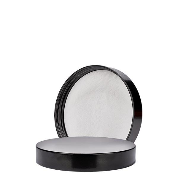 Couvercle à vis en bakélite noire, 58mm/R3