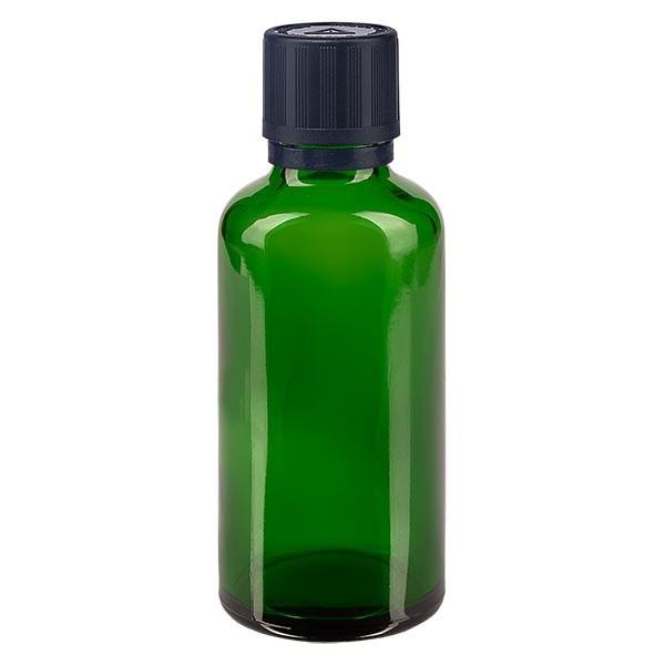 Fl. pharm. 50 ml bouch. compte-g. prem. 1 mm séc. enf. avert. aveugles inviolable