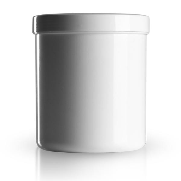 800 ml Salbenkruken weiss - Schraubdeckel weiss
