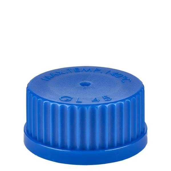 Bouchon à vis bleu - filetage GL 45